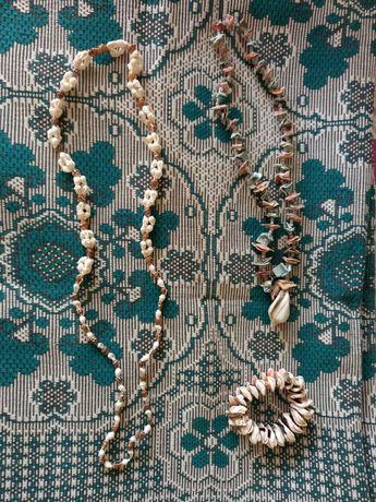 Украшения из ракушек. Ожерелье, браслет. Подарок