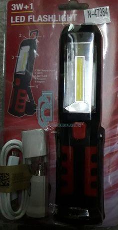 Акумулаторна аварийна LED лампа и USB ИЗХОД