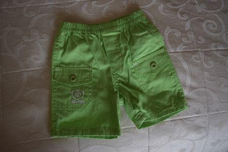 Pantalon scurt pe verde, pentru copii1-2 ani