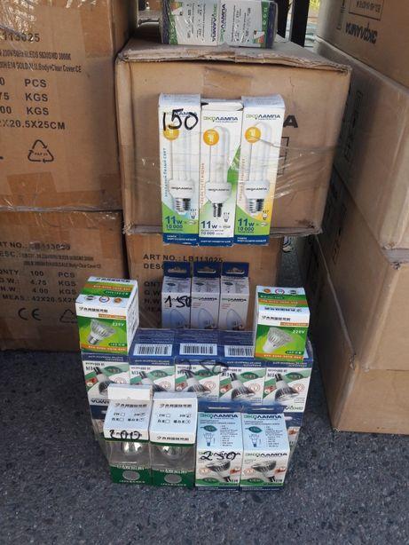 Лампочки энергосберегающие, лед лампочки Е14 Е27 по 150тг
