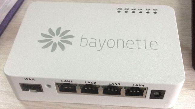 Switch fibra optica Bayonette, 4 porturi, complet, carcasa metalica