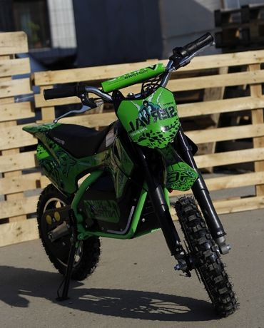 Mini motocicleta electrica NITRO Eco Serval 500W 10/10 #Verde