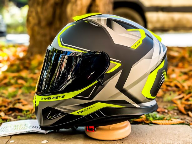 Casca Moto MT THUNDER 3 Sv Turbine Flou Yellow