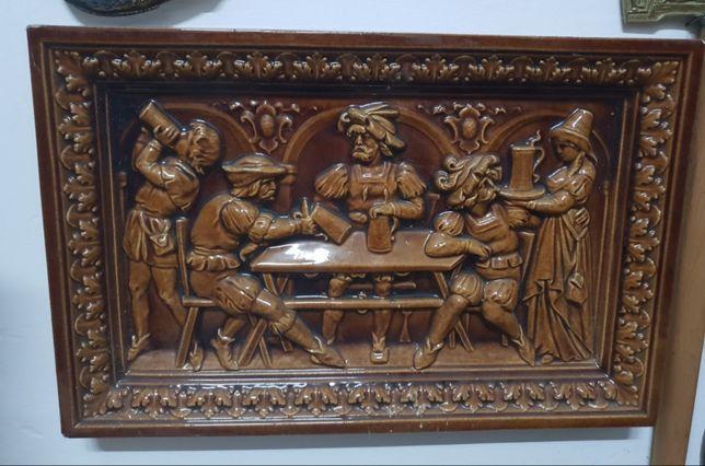 Tablou din ceramica lucrat in relief