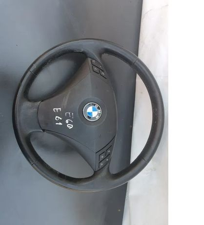 Volan piele cu comenzi, airbag bmw seria 5 e 60/61