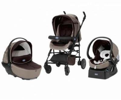 Комбинирана бебешка количка 3в1 Chicco/// Нова!!! Различни цветове!