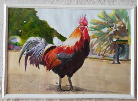 Петел - картина с акрилни бои