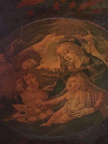 Antic tablou,cromolitografie pe lemn,Franta