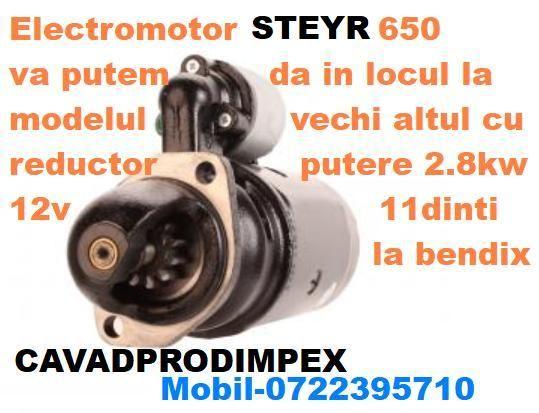 Electromotor pentru tractor STEYR 650 cu reductor NOU