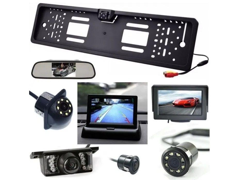 "Camera video auto marsarier display oglinda monitor 4.3"" suport numar"
