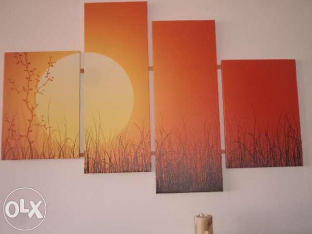 tablou canvas, 4 piese, Peisaj dim totala 130 x 90