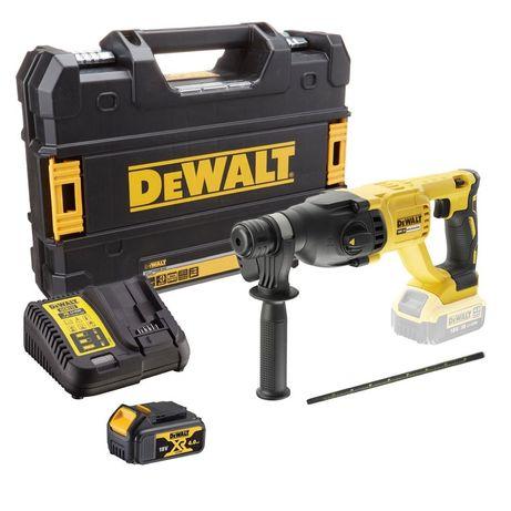 DeWALT Безчетков Перфоратор + Батерия 4,0Ah ,Зарядно и куфар