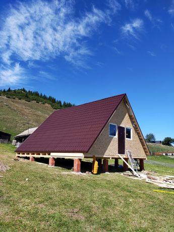case din lemn,case pe structură din lemn, case și cabane din lemn, c