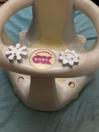 Продам стульчик для купания OK Baby Flipper Evolution+подарок козырёк
