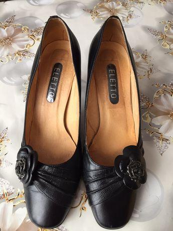 Турецкие кожаные туфли 38 р.