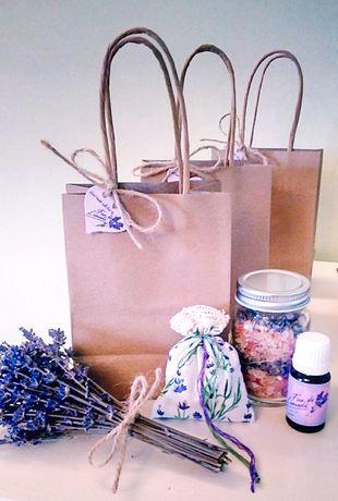 Set cadou produse hand-made lavandă în punguță kraft