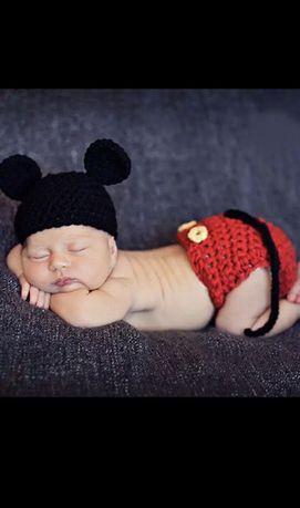 Costumas crosetat bebe soricel + cipici