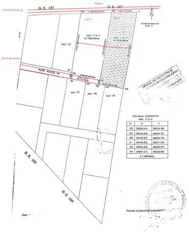 Vând teren intravilan sat Bălteni (zona Scroviştea)
