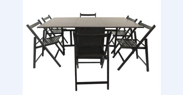 Scaune pliante / mese extensibile + 4 sau 6 scaune (transport gratuit)