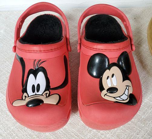 Crocsi matlasati Mickey si Pluto, 35 (int 22 cm)