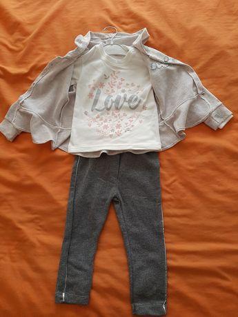 Нов Бебешки комплект за момиче от 3 части 18-24м