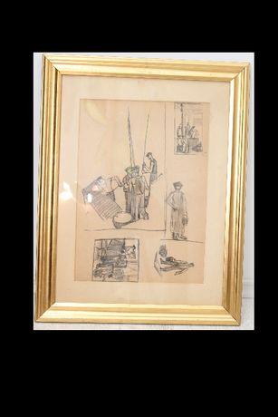 Tablou Alexandru Ciucurencu - 1903-1977 - Grafica 45 x 33 cm
