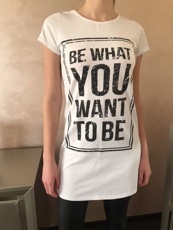 Tricou lung Be what you want to be