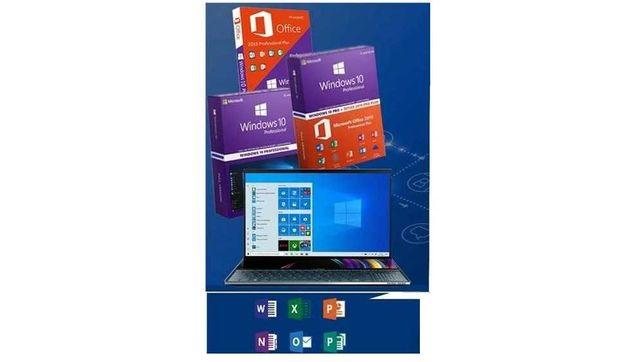 Stick bootabil Windows 10 Pro+Office 2019/key retail instalare
