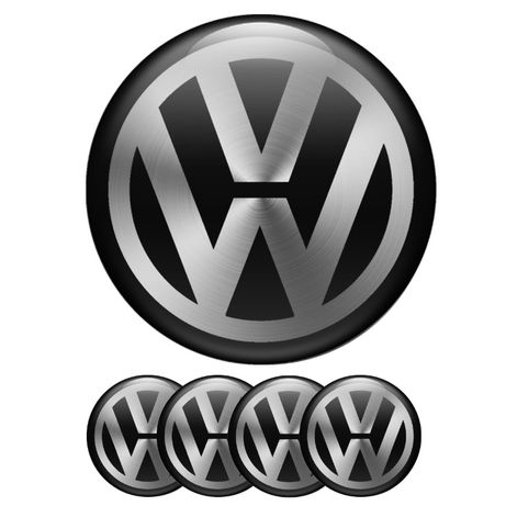 Силиконови стикери за капачки на джанти VW размери 40мм до 90м