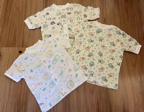 Нови бебешки блузки 3 бр. 3-6 месеца/ Novi bebeshki bluzki 3-6 meseca
