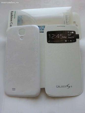 Husa Flip Cover TOC ALB S-view Samsung Galaxy S4 i9500 i9505