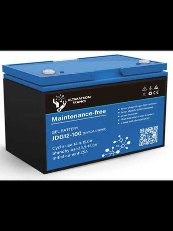 Гелови и литиево-йонени акумулатори от 100 до 200AH  ULTIMATRON FRANCE