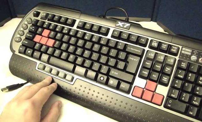 Клавиатура A4Tech X7 G800V, Black,