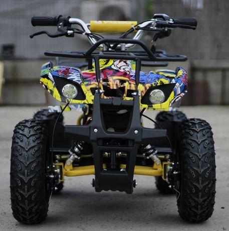 ATV electric pentru copii NITRO Torino Quad 1000W 48V GRAFITI #Galben