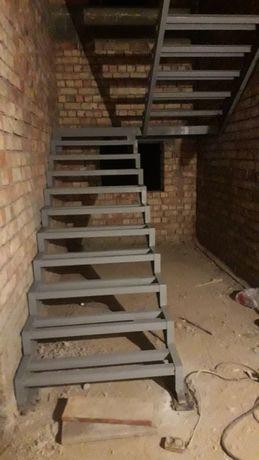 Лестницы металлокаркас, навесы, перила