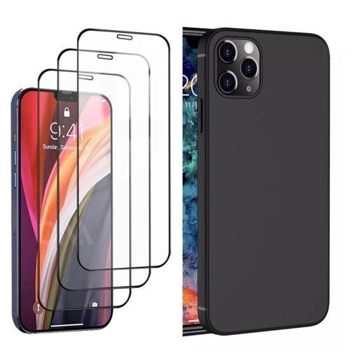 Husa Slim Silicon si Folie Sticla Curbata - Iphone 12 MINI / PRO / MAX Bucuresti - imagine 1