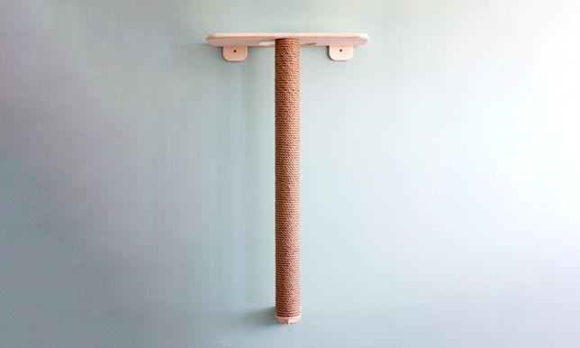Ansamblu de joacă pt. pisici cu stâlp de 120 cm, platforma pâslă lână