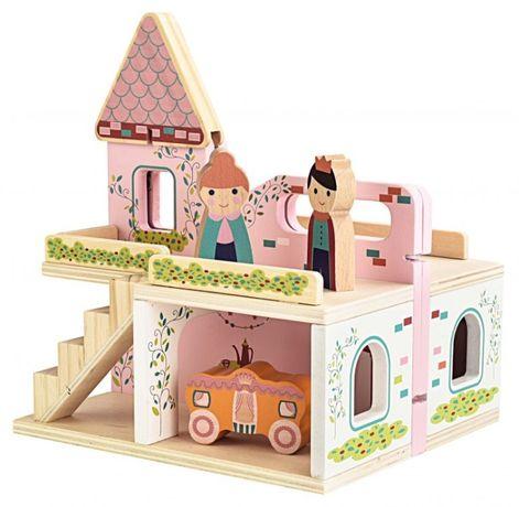 Дървена къщичка за кукли mini matters toys
