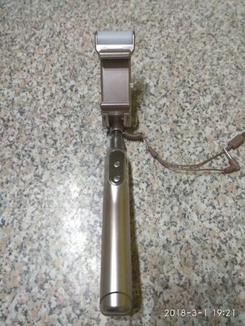 Selfie stick cu led din aluminiu