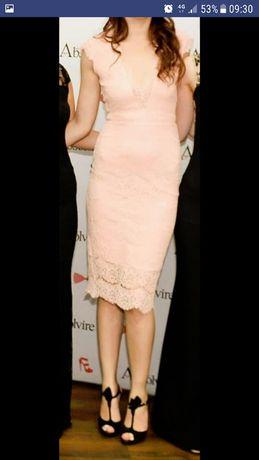 Rochie ocazie roz pal piersica S