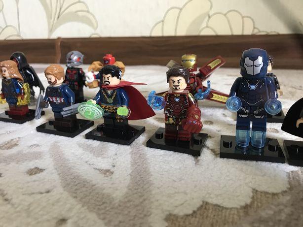 Продаю Lego фигурки супергероев Marvel из фильмов Мстители