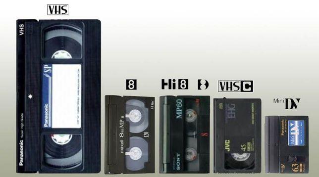 Оцифровка видео-кассет / VHS / VHS-C / MiniDV / Hi8 / Digital 8 / DVD