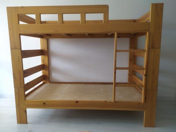 Деревянная двухъярусная кровать 100×200, по матрасу 94×190