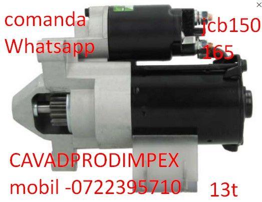 Electromotor JCB mini incarcator 150-165 13 dinti bendix