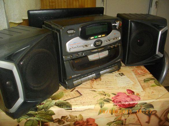 .Двукасетъчен Радио Касетофон-Караоке-Sonashi SNS-801 Karaoke MPX Sist