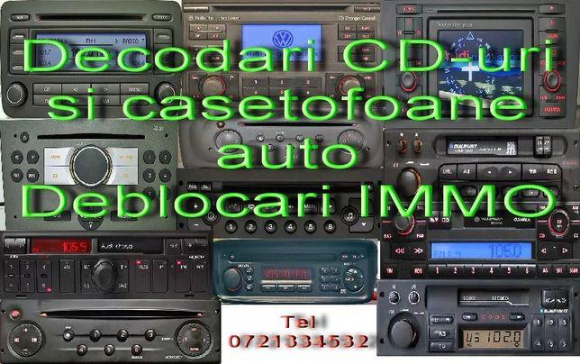 Decodare Navigatii, CD auto si casetofoane auto