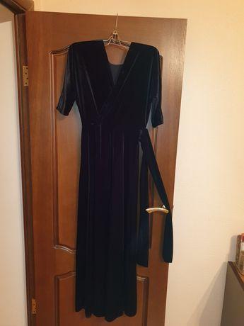 Платье вечернее,бархат ткань
