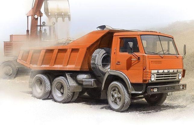 Камаз самосвал с прицепом услуги перевозки щебень балласт песок мусор