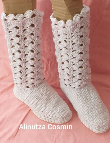 Vand cizme de vara crosetate manual pentru copii si adulti 10
