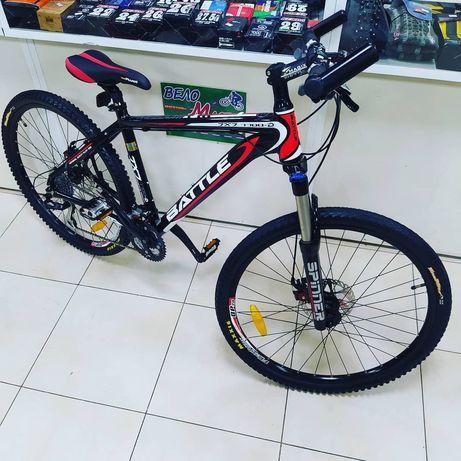 Battle JXJ7700-D, 17(Al)рама, Shimano Alivio, велосипед на большой вес